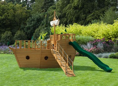 wooden boat swing set play mor 910 ship s ahoy yacht wooden playset wooden playset
