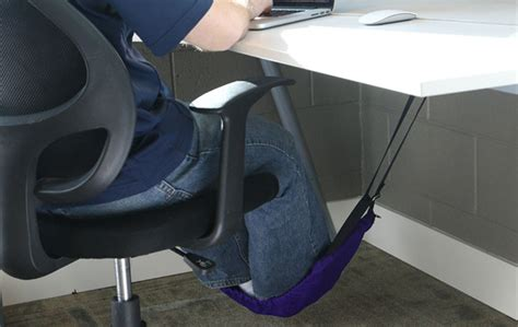 foot hammock for desk foot hammock cuddles your toes under your desk cnet
