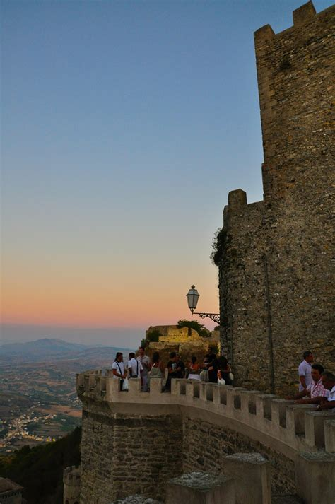 Erice castle offers great views of Trapani region, Sicily