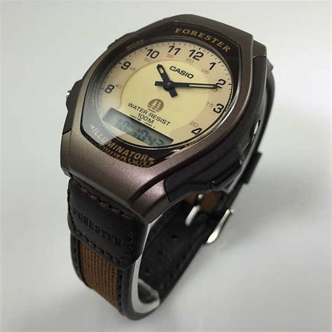 s brown casio classic forester analog digital