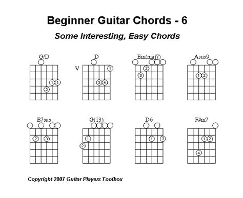 guitar chord diagrams for beginners beginner guitar chords part 6 various cool chords