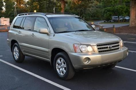 automobile air conditioning service 2003 toyota highlander lane departure warning purchase used 2003 toyota highlander limited in absecon new jersey united states for us 9 000 00