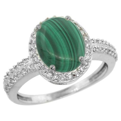 2 56 ctw malachite engagement ring 10k
