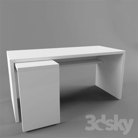 ikea pull out table 3d models table ikea malm 151x65 with pull out panel