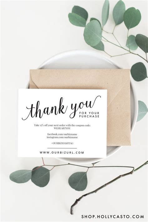 thank you packaging card template 25 best ideas about business thank you cards on