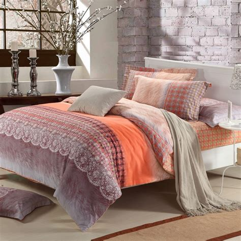 orange and brown comforter sets bright orange brown and beige tribal print bohemian style