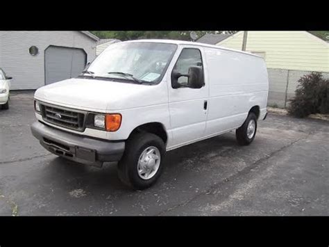 how to work on cars 2007 ford e250 parking system 2007 ford e 250 van super duty econoline cargo start up and review youtube