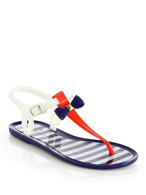 kate spade bow sandals kate spade fresh jelly bow sandals in multicolor