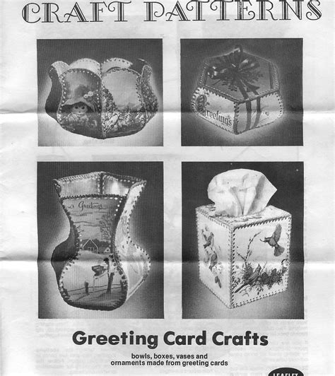 Template For Greeting Card Box by Crochet Greeting Card Boxes With Templates Great For