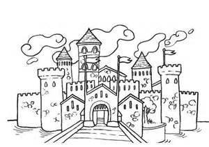 Coloriage Chateau Princesse Disney