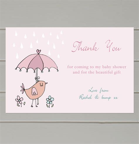 Baby Shower Gift Thank You Cards by Personalised Baby Shower Thank You Cards By Molly Moo