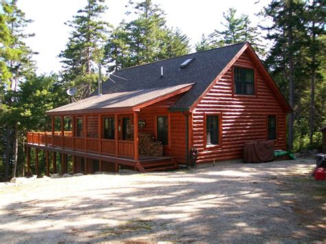 Home Away Maine by Wickyup Log Cabin Ontunk Lake In Downeast