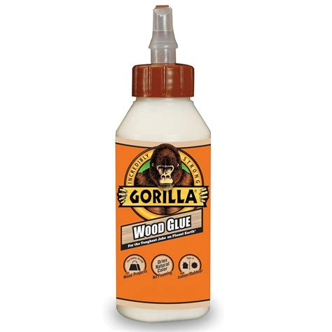 gorilla 8 fl oz wood glue 62000 the home depot