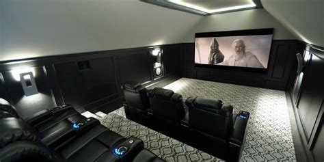 home theatre design concepts black white theater a unique design concept electronic house