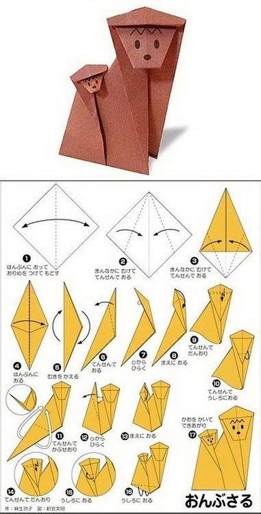 Origami Monkey Diagram - monkey origami szukaj w origami