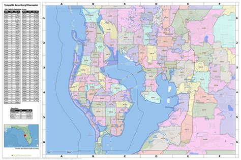 pinellas county florida zip code map search the maptechnica printable map catalog maptechnica