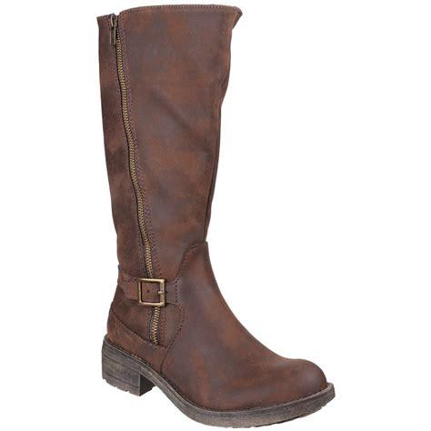 rocket boots rocket tanker zip up brown boots free returns at