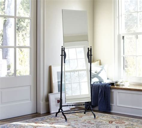 frameless floor mirror pottery barn