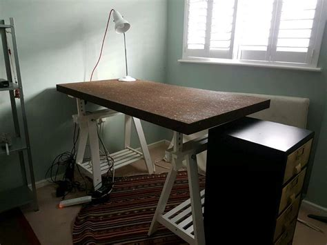 dining tables cork ikea trestle office or dining table cork in