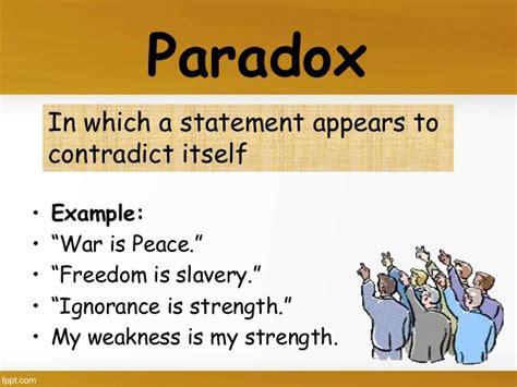 exle of paradox figurative language