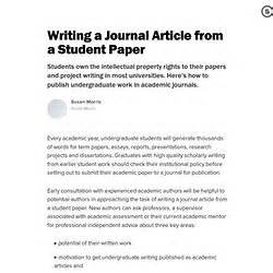 writing an academic paper for publication paper in journal pearltrees