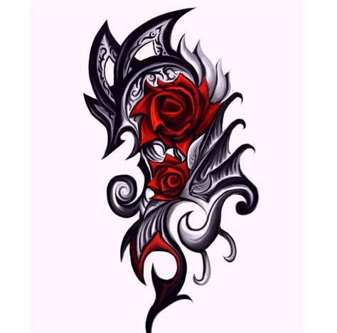 dragon and rose tattoos 1000 images about dragon tats on