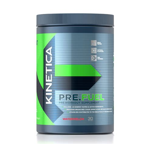pre fuel pre workout watermelon flavour 300g kinetica