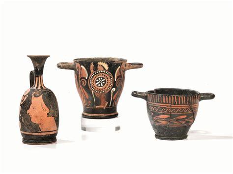 vasi a figure rosse tre vasi a figure rosse archeologia classica ed egizia