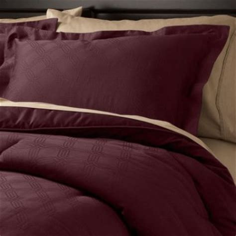 fieldcrest luxury icon plum 3 pc comforter set king target