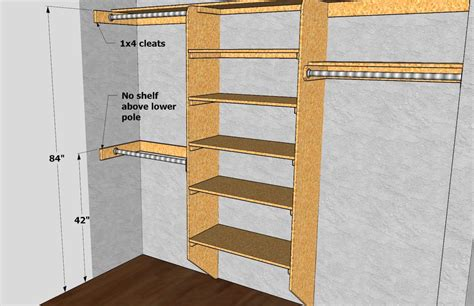 Closet Shelf Heights by Closet Shelving Pole Dimensions Via Thisiscarpentry Design Details Closet Shelving