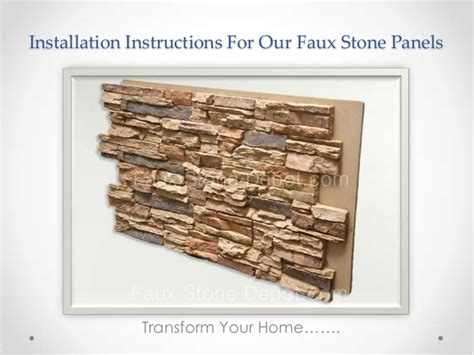 Interior Stone Veneer Home Depot by How To Install Diy Faux Stone Panels