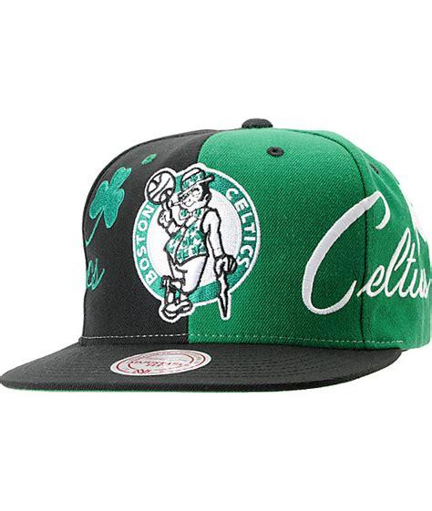 nba snapback hats c 4 nba mitchell and ness boston celtics the split snapback hat