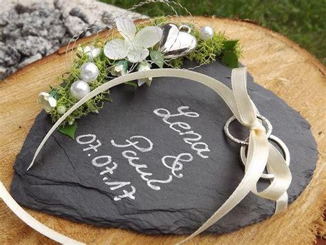 Hochzeitsschuhe Beschriften by Ringkissen Ringhalter Schiefer Herz Mit Beschriftung Namen