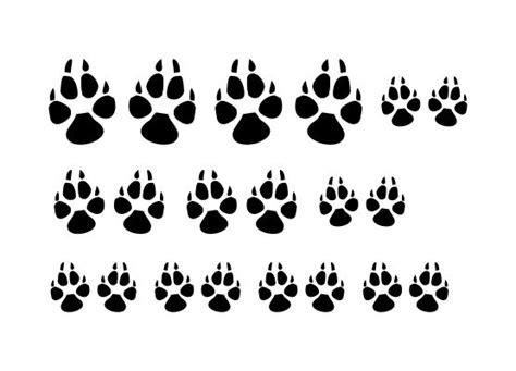 Autoaufkleber Hundepfoten by Autoaufkleber Tiere Hundepfoten 10er Set
