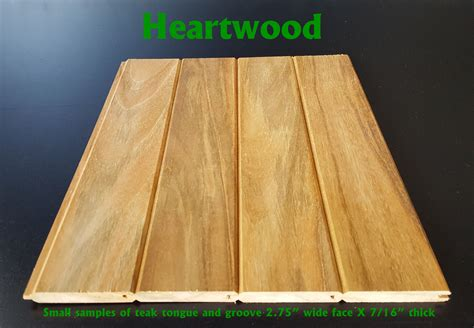 teak universal tongue and groove heartwood one