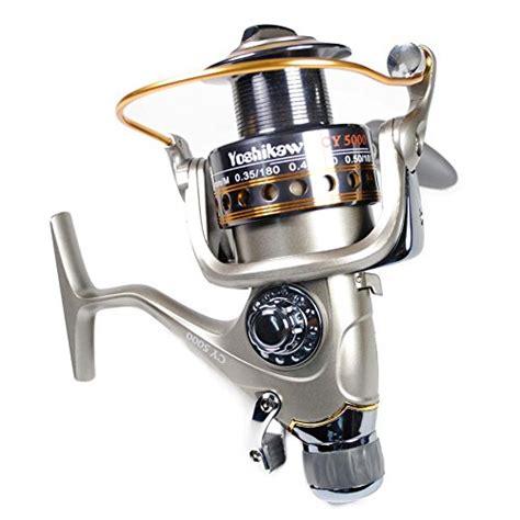 Yoshikawa Aluminum Spinning Reel Grey 2 yoshikawa baitfeeder spinning reel 5000 saltwater big freshwater surf fishing 5 5 1 10 1bb