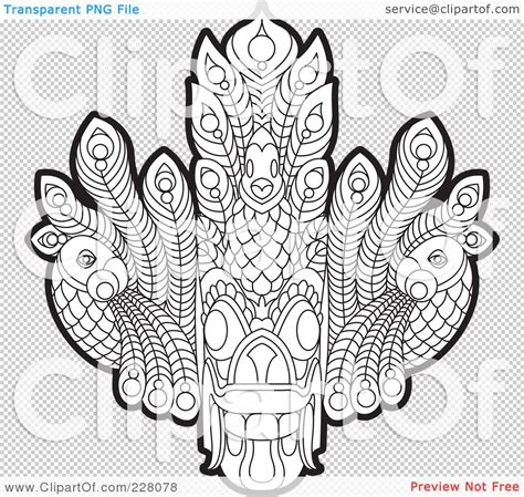 Gara White Tribal coloring pages tribal