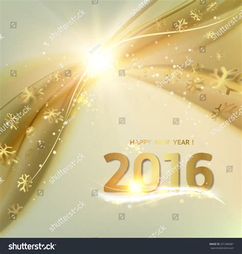 new year card template 2016 happy new year card gold template stock vector 331286687