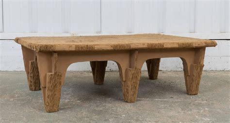 Cardboard Coffee Table Joel Stearns Corrugated Cardboard Coffee Table For Sale At 1stdibs