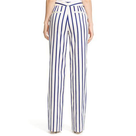 Stripe Wide lyst polo ralph striped wide leg pant in white