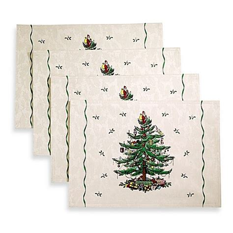 buy spode 174 christmas tree placemat set of 4 from bed