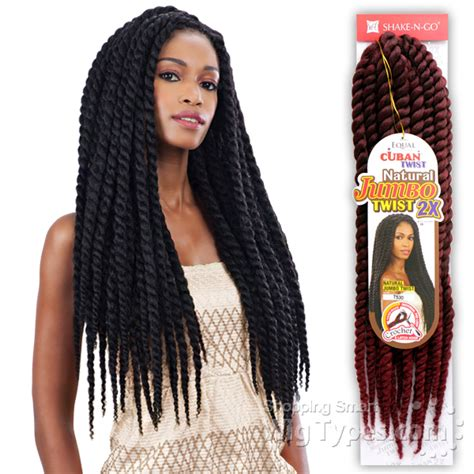 is there human cuban twist hair freetress equal synthetic braid cuban twist natural