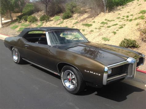 Pontiac Lemans 1969 by One Owner 1969 Pontiac Lemans Like Gto Convertible