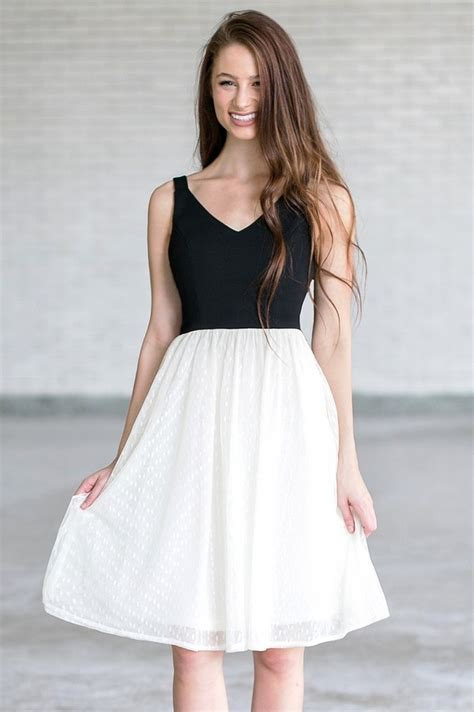 Made Me Ivory And Black Dress black and ivory a line midi dress black and ivory tulle