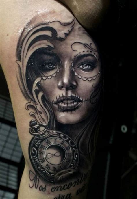 day of the dead girl tattoos great muerte pictures tattooimages biz