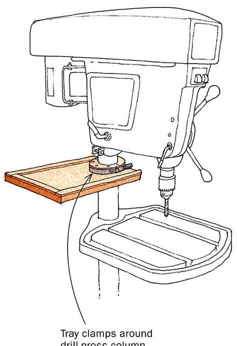 easy access shelf  drill press accessories finewoodworking