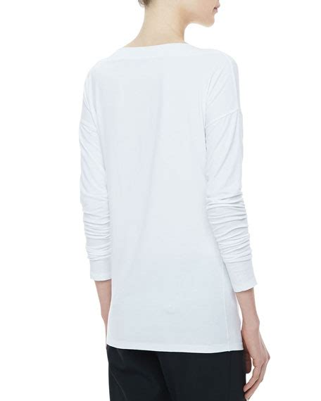 boat neck tee long sleeve vince boat neck long sleeve tee white