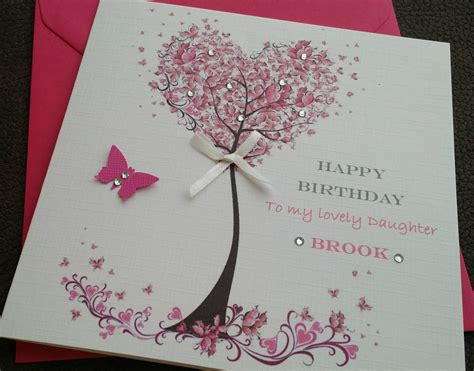 birthday card personalised handmade