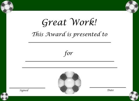 soccer award certificate templates free discover and save creative ideas