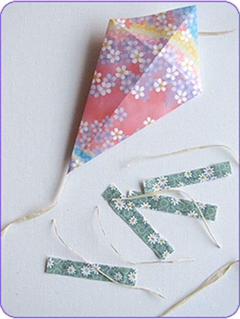 Origami Paper Kites - easy craft origami kites woo jr activities